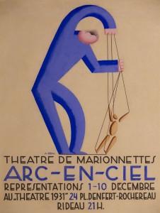 Arc-en-Ciel plakatterv 1930 Parizs vegyes tecnika
