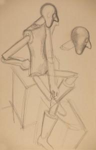 Babterv 1929k Parizs ceruza, papir (50,5x33)