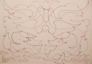 Beke 1968 Papa filctoll, papir