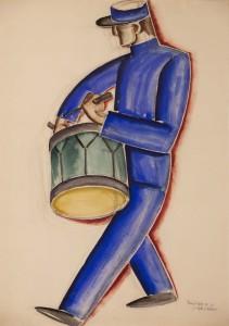 Dobos 1929_08_12 Pariza akvarell, szen, papir