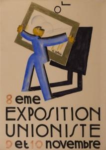 Exposition unioniste plakat Parizs