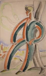 Hazagondolo onarckep 1930k Parizs vegyes techn, papir
