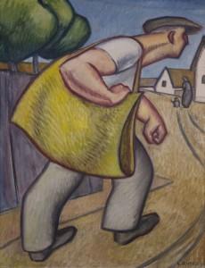 Hushordo hentes 1930-62 Parizs-Papa olaj, vaszon