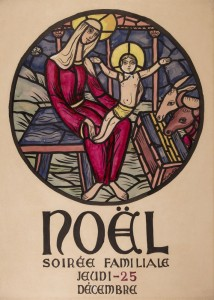 Noel, plakat Parizs vegyes techn, papir