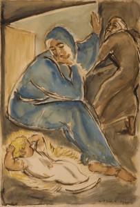Szent Csalad 1943_01 Papa akvarell, papir