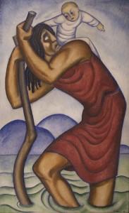 Szent Kristof 1933 olaj, vaszon