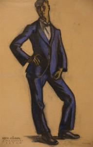 allo onarckep 1927 Rimaszombat pasztell, szines kreta, papir