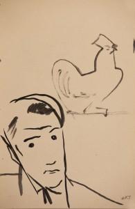 onarckep kakassal 1929k Parizs tus, papir (31x20)